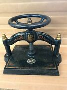 1893 Antique Cast Iron Book Press By B And H Co. 4