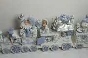 Lincolnshire Christmas Train Blue And White Santa And Toys 2001
