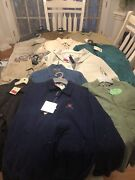 Nwt Huge Lot Of 16 Vintage Button Down Shirts Polo Chanstockand Moresize Med