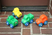 Rare Vintage Discontinued Little Tikes Pretend Play Set Of 3 Trucks And 1 Car