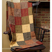 New Primitive Country Rustic Rebecca's Patchwork Farmhouse Quilt Throw Blanket