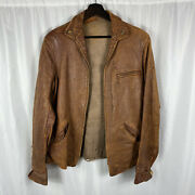 1930s 40s Stripling Vintage Leather Jacket Used By Wwii Pilot