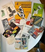 Large Collection Vintage Camera Catalogue's And Manuals From 1940's - 1960's