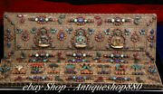 Tibet Silver Filigree Inlay Gem Turquoise Paper Scriptures Heart Sutra Book Set