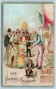 C1880 Victorian Trade Card Hygienic Kalsomine Mixed Paint Uncle Sam Ac18