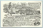 Postcard Il Illinois Springfield Cozy Drive In Restaurant Route 66 Map Ag15