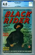 Black Rider 8 Cgc 4.0 1950- First Issue- Stan Lee Photo Cover-rare 2121216012