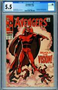 Avengers 57 Cgc 5.5 // 1st Appearance Of The Vision // Marvel 3763774003