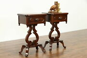 Pair Of Victorian Style Vintage Mahogany Side Or Lamp Tables Nightstands 37508