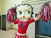 2002 King Syndicates Betty Boop Cheer Leader Statue Figure 3and039 Tall