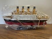 Rms Titanic Wooden Model Ship Assembled 16 X 8 Brand New