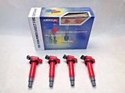 4 Pieced Direct Ignition Coil Kit Fits Scion Tc 2004 2.4l By Obx Racing Sports