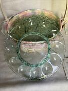 Longaberger 2001 Whitewashed Easter Basket Combo W/ Liner Protector Plate Tie On