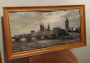 H.moss Big Ben London At Dawn 12x24 Color Lithograph Framed