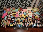 Fisher Price Loving Family Dolls And Furniture Lot Of 100 + Pieces 1993-2011