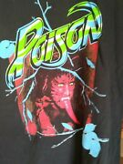 Poison 1988 Open Up And Say Ahh Vintage Licensed Concert Tour Shirt Md Brand New