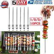 Bbq Barbecue Skewers Stainless Steel Camping Outdoor Grill Needle Kebab Sticks