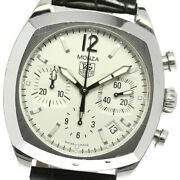 Auth Tag Heuer Watch Monza Date Chronograph Cr2114-0 Automatic Case38mm Leather