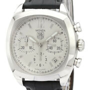 Auth Tag Heuer Watch Monza Chronograph Ss Leather Automatic Cr2114 Case39mm F/s