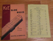 Kande Keuffel And Esser Slide Rules And Calculating Instruments Catalog And Prices 1941