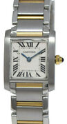 Tank Francaise 18k Yellow And Steel Quartz Ladies Small Watch 2384