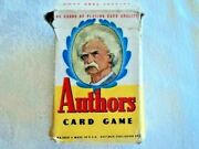 Vintage Authors Card Game, Whitman 3010, Mark Twain On Cover, 11 Sets Of 4