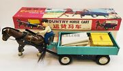 Me 641 Country Horse Cart Tin Toys Red China Battery Operated Vintage New In Box