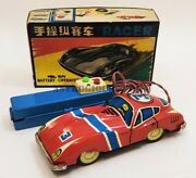 Me 742 Racer Tin Toys Red China Battery Operated Vintage New In Box Never Used