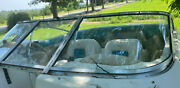 1996 Glastron Ssv 175 Left Side Front Windshield Curved Glass With Door