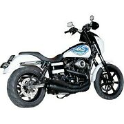 Sands Cycle Black Ceramic Grand National 22 Exhaust System For 06-17 Fxd Dyna