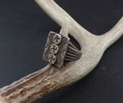 Silver 3 Whirling Log Design Ring Size 11 1/2 - 12