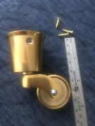 New Brass Casters Table Chair Sofa Rollers Antique Vintage Style Wheels