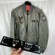 Vietnam War Us Air Force Experimental L-2b Flight Jacket Patched Named W/ Extra