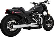 Pro Pipe Full Exhaust Chrome Vance And Hines 17587 For 18-21 Hd Softail