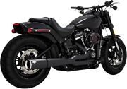 Pro Pipe Black Full Exhaust Vance And Hines 47587 For 18-21 Harley Softail