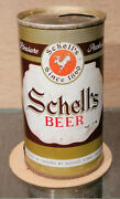 1969 Schell's Straight Steel Pull Tab Beer Can August Schell New Ulm Mn