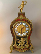 French 19th Century Louis Xv Style Boulle Style Cartel Clock 18.5x8.5