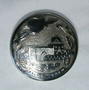 Antique Powder Compact 833 Silver Signed By Artisan Nk Rachael Tomb 1920s Israel