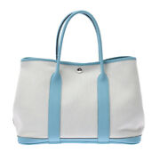 Hermes Garden Party Pm Blue Atoll Hand Bag 800000094919000