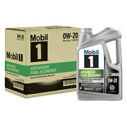 Mobil 1 124185 Full Synthetic Engine Oil 0w20 5 Quart Jugs Set Of 3