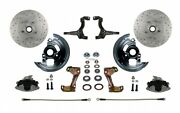 Leed Brakes Fc1003-fbb4x Front Disc Brake Kit W/2 In. Drop Spindles Gm A/f/x-bod