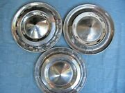Vintage Chevrolet 1950s Chevy Chrome Pointed Dome Hubcaps Wheel Covers 15 X3