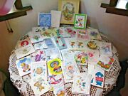 Vintage Lot Of 38 Small Greeting Cards Note Baby Wedding Shower Gifts 1950s Usa