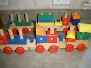 Train Wooden Melissa And Doug Stacking Classic Toddler Blocks Toy Set