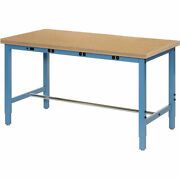 72w X 36d Adjustable Height Workbench Power Apron 1-1/2 Thick Shop Top