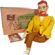 1950s Jerry Mahoney W/moving Eyes In Box Ventriloquist Stick Head Dummy By Juro