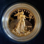 2001 W 25 1/2 Oz Proof Gold Eagle Coin