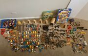 Playmobil Huge Mixed Lot Accessories, People And Animals 300+ Pcs Vintage