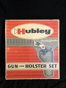 Guns And Holster Vintage Hubley Complete Leather Holster And Pistol Set With Tag