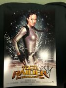 Lara Croft Tomb Raider Movie Poster Angelina Jolie Signed And Authenticated 2003
